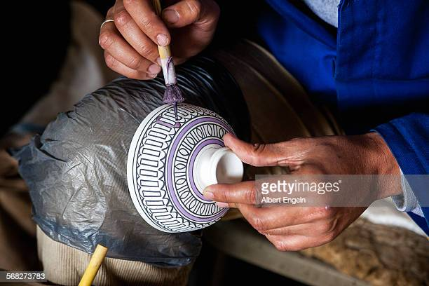 Traditional pottery painting.