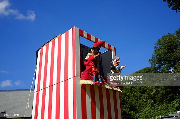 traditional punch and judy show - puppet show stock photos and pictures