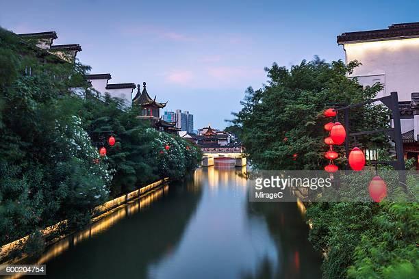 Traditional Qinhuai River in Nanjing