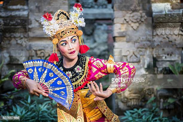 traditional ramayana dancer in a temple of bali - bali stock pictures, royalty-free photos & images