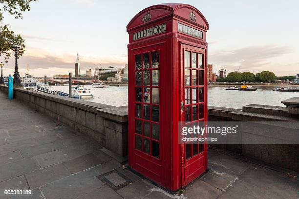 traditional red phone box, london, england, uk - telephone booth stock pictures, royalty-free photos & images