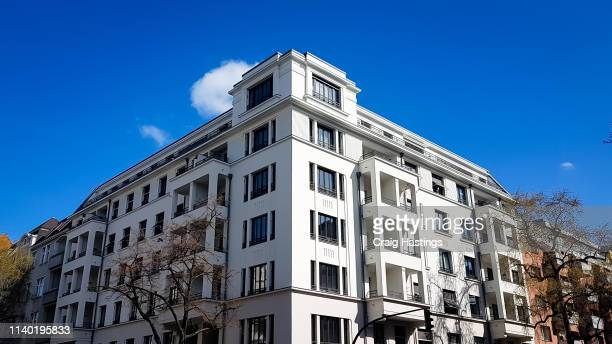 Traditional Residential block of apartments in Berlin suburbs Germany