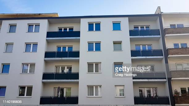 traditional residential block of apartments in berlin suburbs germany - タウンハウス ストックフォトと画像