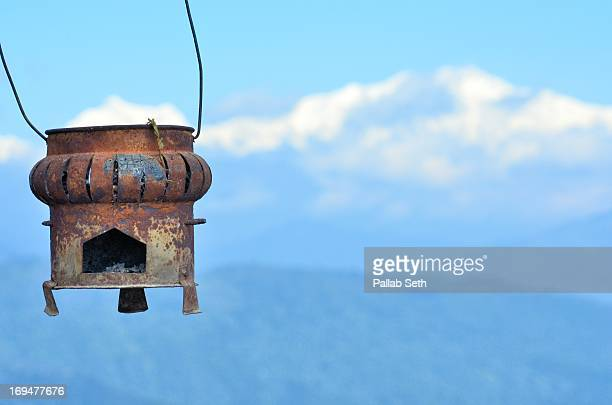 Traditional room heater of Nepal