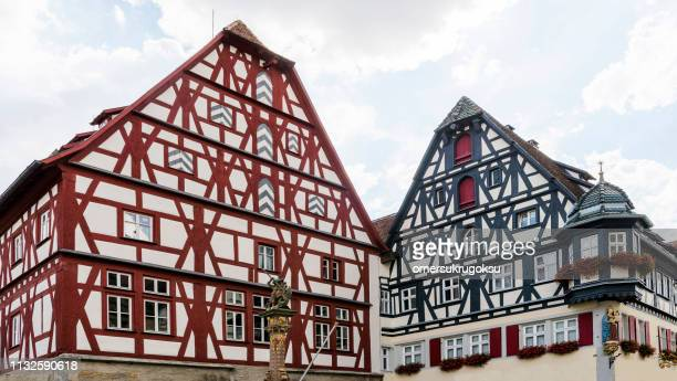 Traditional Rothenburg ob der Tauber houses in Germany