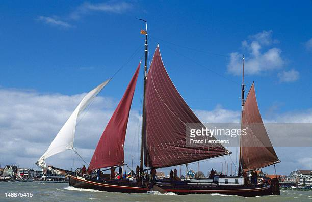 Traditional sailing boat in Annual Pieper Race.