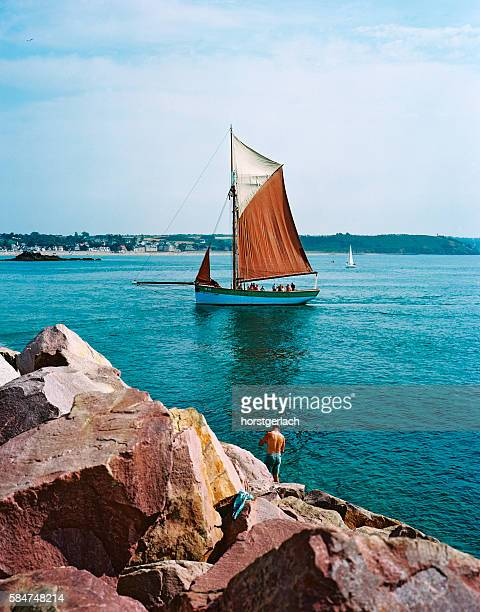 Traditional sailing boat in Brittany, France