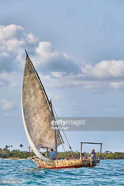 Traditional Sailing Dhow boat at Zanzibar Island
