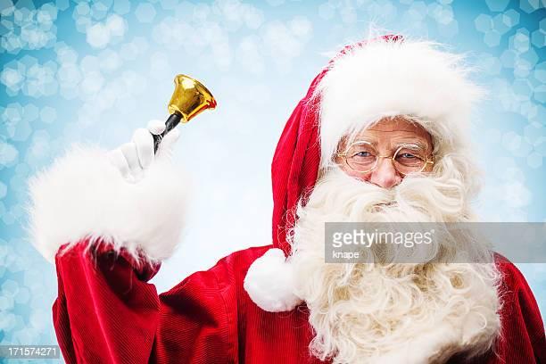 traditionelle santa claus - glocke stock-fotos und bilder