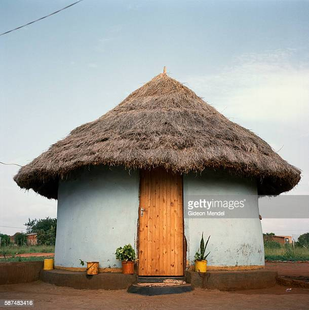 A traditional Shangaan hut in the Makuleke village with an electricity cable going into it This might seem normal but the electrification of this...