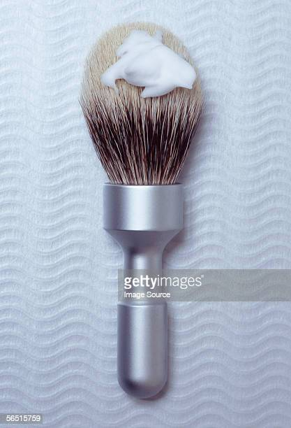 A traditional shaving brush
