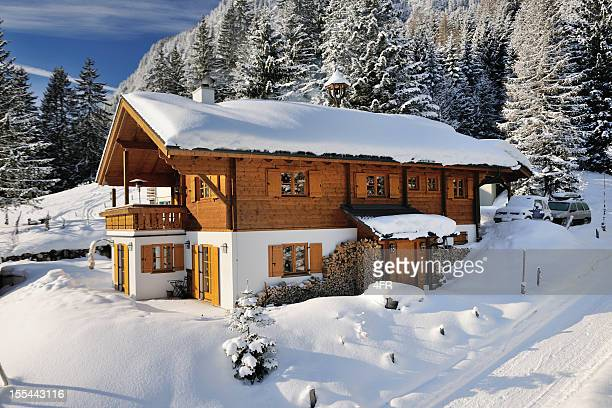 Traditional Ski Chalet covered in Snow (XXXL)