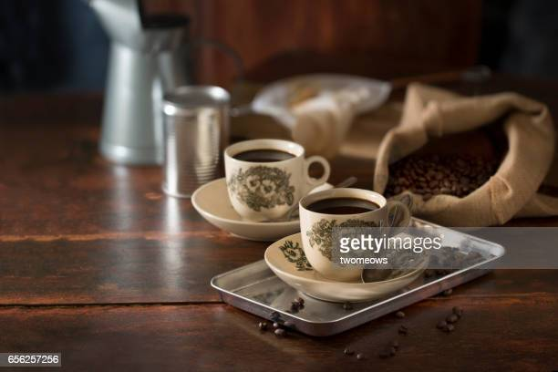 Traditional south east asian black coffee.