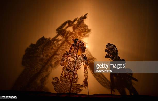 Traditional south of Thailand Shadow Puppet Show, Thailand