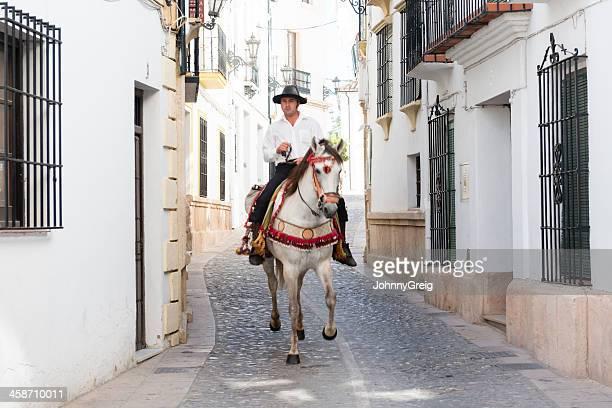 horseman españolas tradicionales - ronda fotografías e imágenes de stock