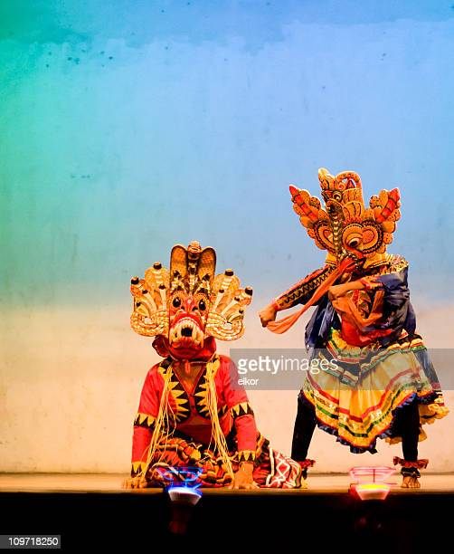 traditional sri lanka mask dance - mask dance stock pictures, royalty-free photos & images