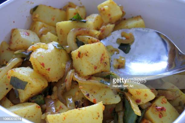 Traditional Sri Lankan Food Potato Tempered