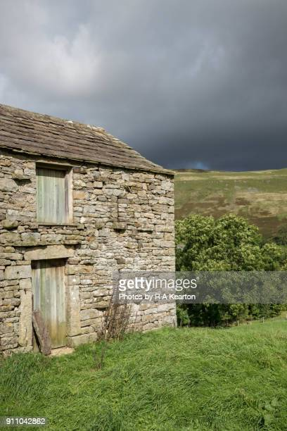 Traditional stone barn near Muker, Swaledale, North Yorkshire