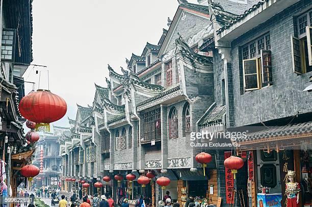 Traditional street, Fenghuang, Hunan, China