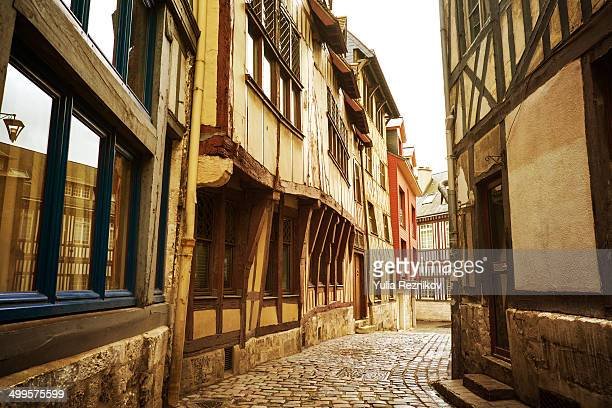 Traditional street in Rouen