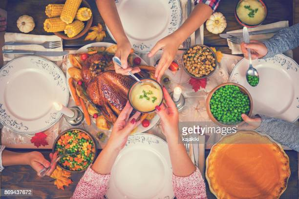 Traditional Stuffed Thanksgiving Turkey Dinner