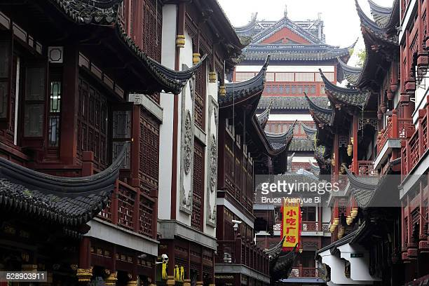 Traditional style architectures in YuYuan Bazaar