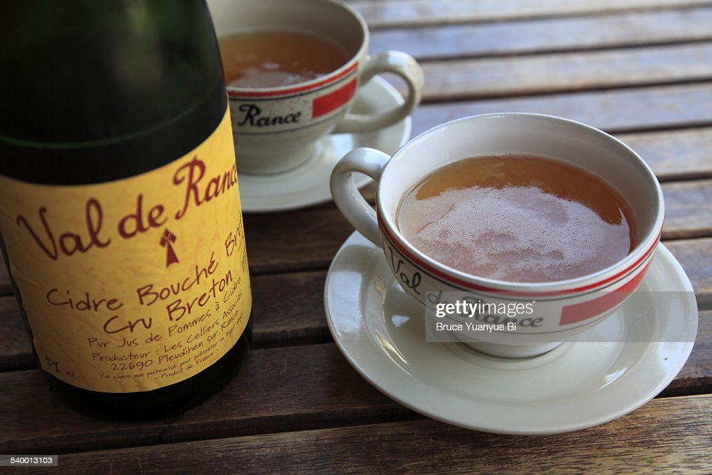 Traditional style Brittany cider : Stock Photo