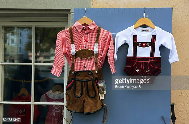 traditional style swiss children's clothes - traditional clothing stock pictures, royalty-free photos & images
