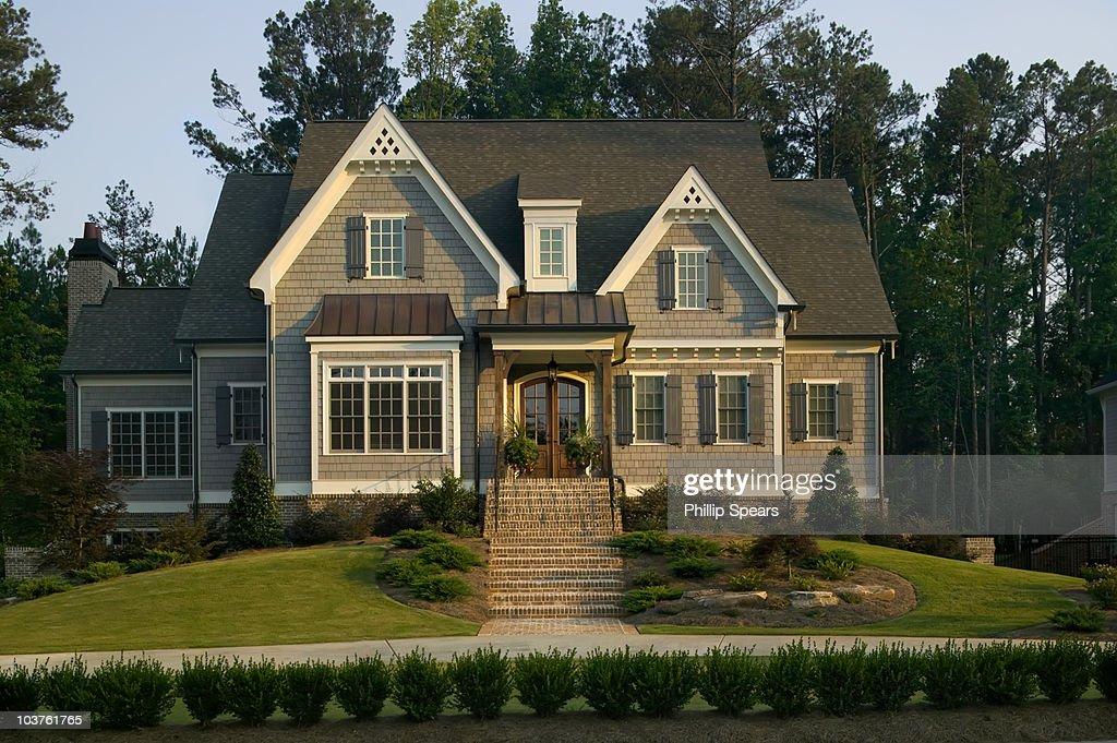 Traditional Suburban House : Stock Photo