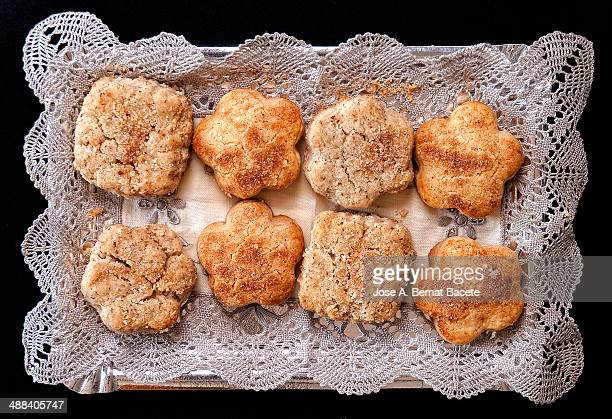 Traditional sweet tray of homemade almond