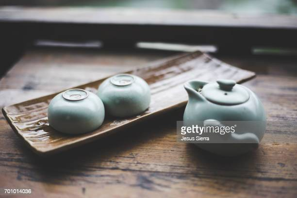 Traditional tea set in Fenghuang