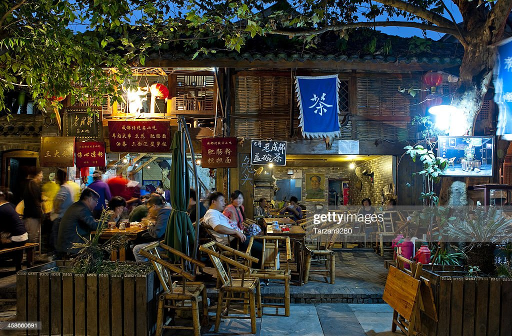 Traditional teahouse in Chengdu, China : Stock Photo