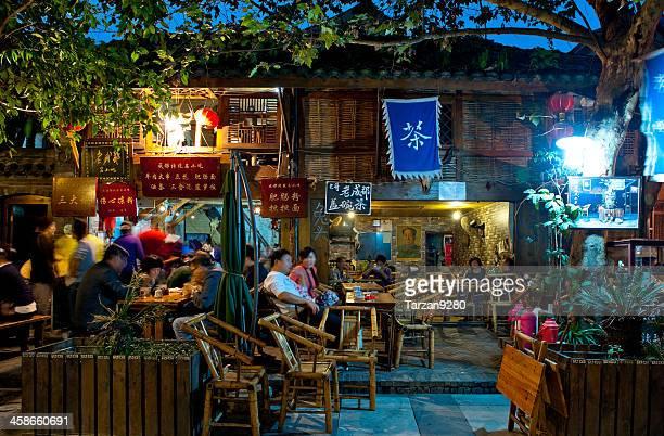 伝統的な茶室で、成都、中国 - 成都 ストックフォトと画像