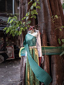 traditional thai costumes fabric colors colorful