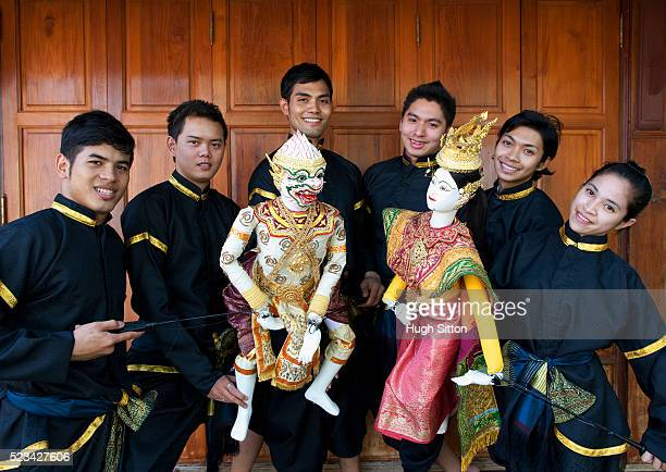 traditional thai puppet dancers, bangkok, thailand - hugh sitton stock pictures, royalty-free photos & images