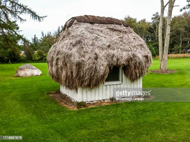 traditional thatched hut - tradition stock pictures, royalty-free photos & images
