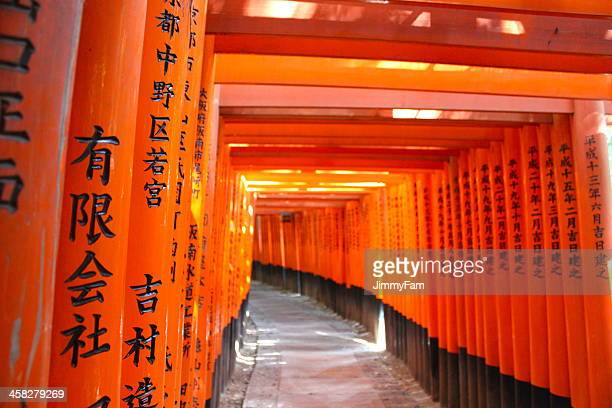 Traditional torii gate in Kyoto, Japan