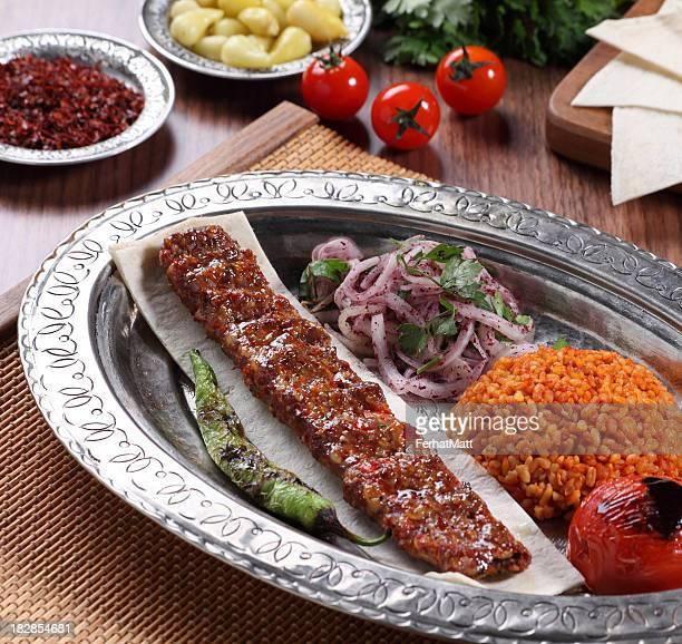 Traditional Turkish Adana Kebab