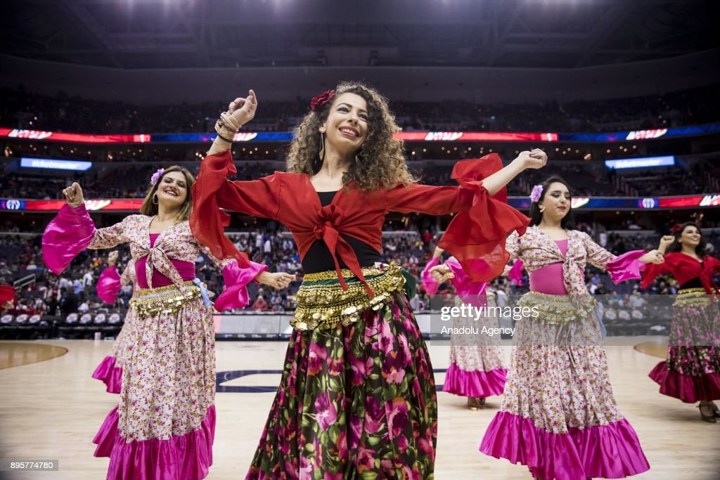 Traditional Turkish Dancers Perform During Halftime Of The