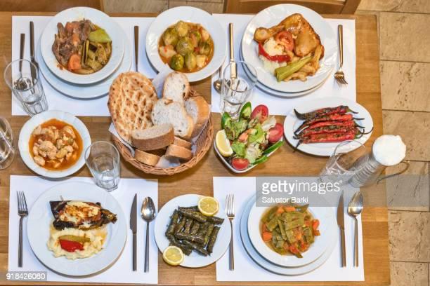 Traditional Turkish Food Table