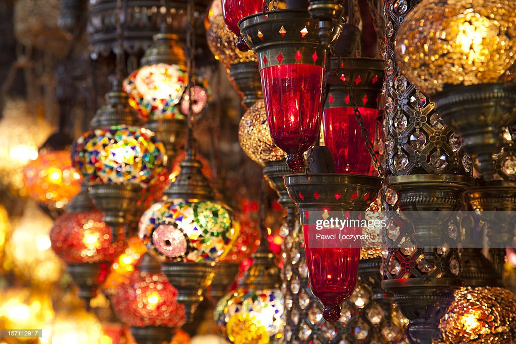 Traditional Turkish Lamps : Stock Photo