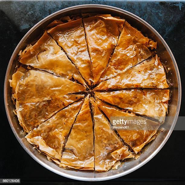 Traditional turkish sweet dessert Baklava
