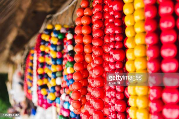 Traditional Ukrainian wooden beads for sale