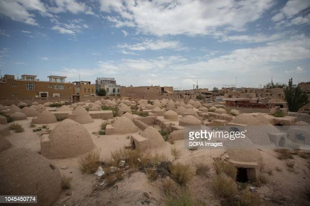 A traditional Uyghur cemetery build with mud seen in the Kashgar old Town northwestern Xinjiang Uyghur Autonomous Region in China Kashgar is located...