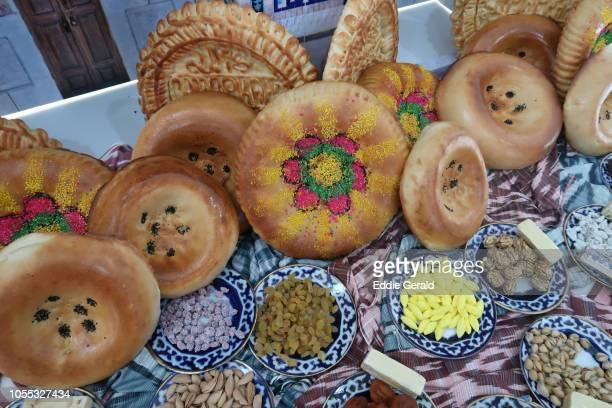 Traditional Uzbek fabled flat breads