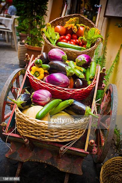 Tradicional de vegetal carrito