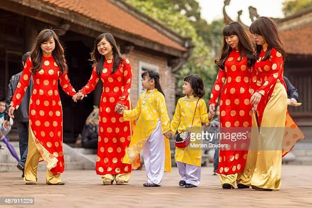 Traditional Vietnamese festive attire
