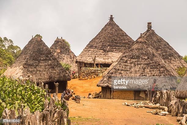 Aldeia tradicional com Cabanas em Timor Leste
