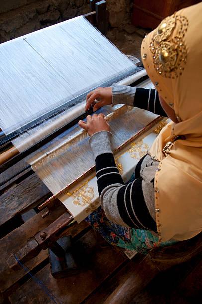 Traditional Weaving of Buya Sabe or Sarung Donggala (Donggala woven fabric), Indonesia
