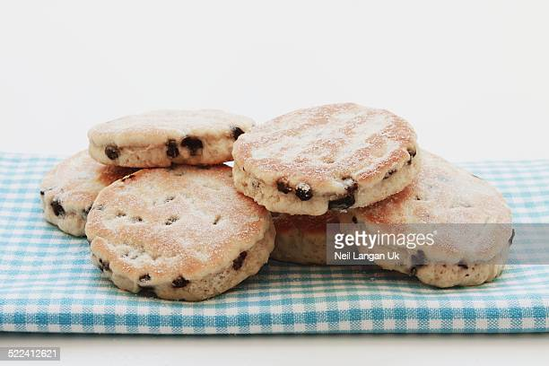 traditional welsh cakes snack - ウェールズ文化 ストックフォトと画像